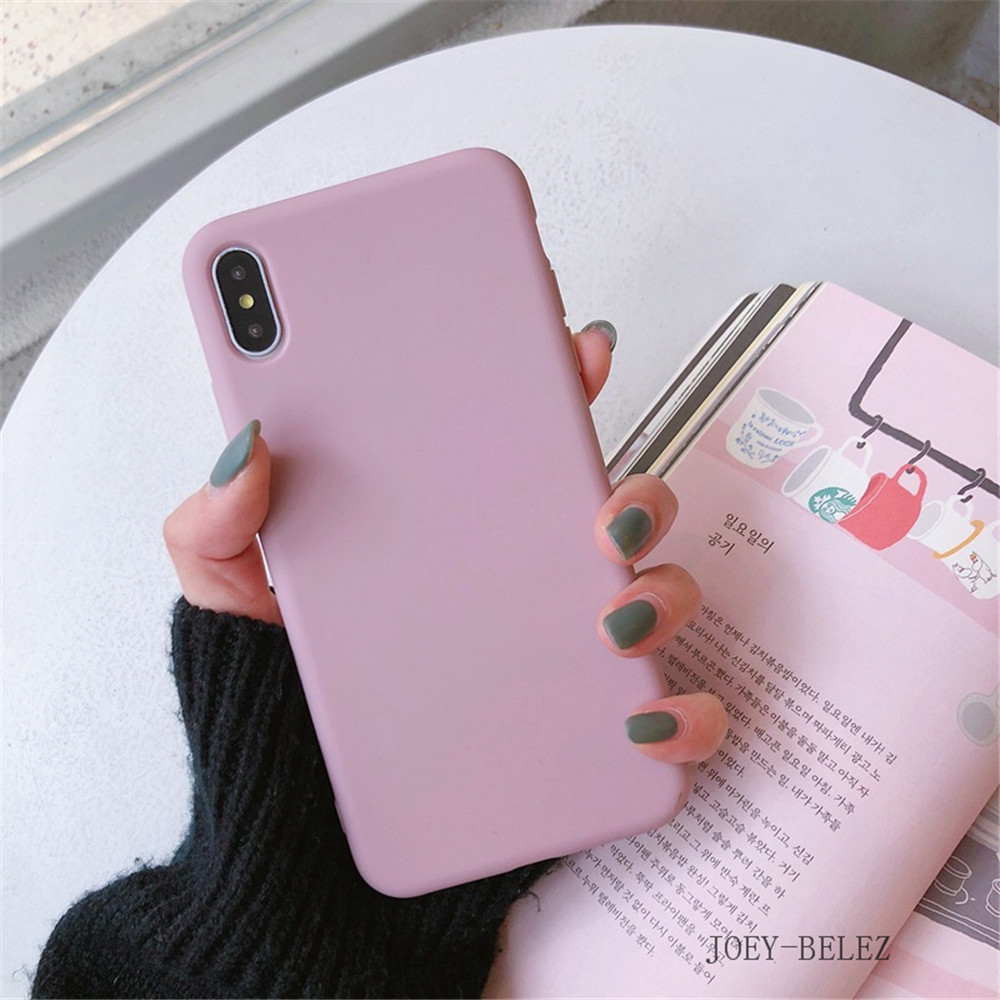 Matte Phone Cases For iPhone 7 Candy Case For iPhone X 7 6 6S 8 Plus 6 6S Case Cover XR XS MXA Coque Silicon Fundas Capa Carcasa21