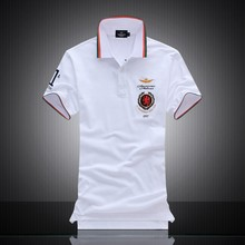 Summer new men's polo shirt famous designer men's casual 100%cotton Polo shirt Air Force One Polo shirt M-XXL