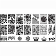 1pc Hot women nail art 1PCS Nail Stamp Stamping Image Plate Print Nail Art Template DIY A# fast dropshipping(China)