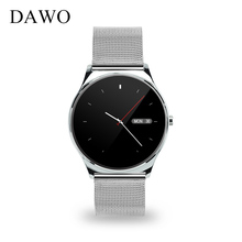 DAWO Smartwatch 9.8mm Semicircular Screen Smart Watch Heart Rate Monitor Passometer Sleep Tracker For IOS Android PK k88h GW01(China)