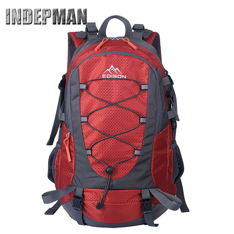 Hiking Backpack Outdoor Sports Backpack Water-resistant Daypack Travel Camping Backpack with Grid Bearing System<br><br>Aliexpress