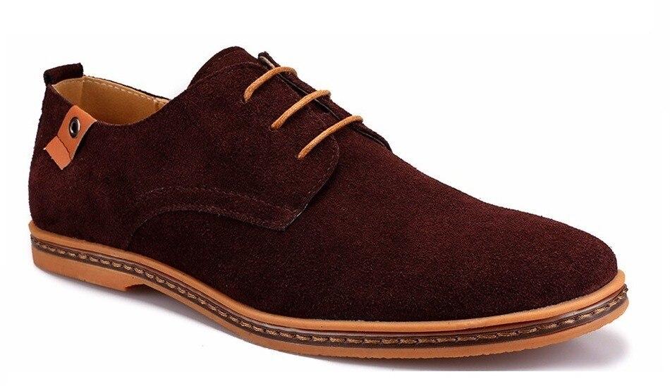 Classic Men Flats Gentleman Oxford Genuine Leather Dress Shoes Men Flat Shoes Luxury Casual Shoes Size 39-47 6