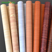 5M/10M Waterproof Vinyl wall stickers roll self adhesive wallpaper furniture wood grain decorative film wardrobe door stickers