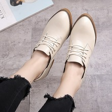 British style retro women shoes high heels 2017 spring college wind leather shoes women high heel shoes lace oxford shoes