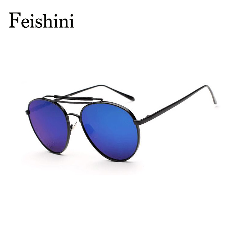 FEISHINI High Quality Sexy Round Glasses Men Brand Sports UVA Classic Star Style Oval Sunglasses Women Polarized 2017<br><br>Aliexpress