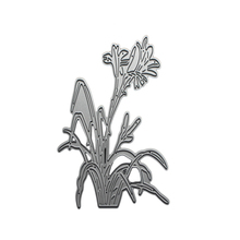 Orchid Flower Grass Die Cuts,Metal Cutting Dies In Scrapbooking  Folder DIY Festival Party Decor Scrapbooking Template