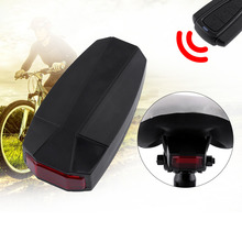 3 in 1 Mountain Bicycle Wireless Bicycle Alarm Taillight Rear Light Remote Control Alarm Lock Fixed Position USB Charging(China)
