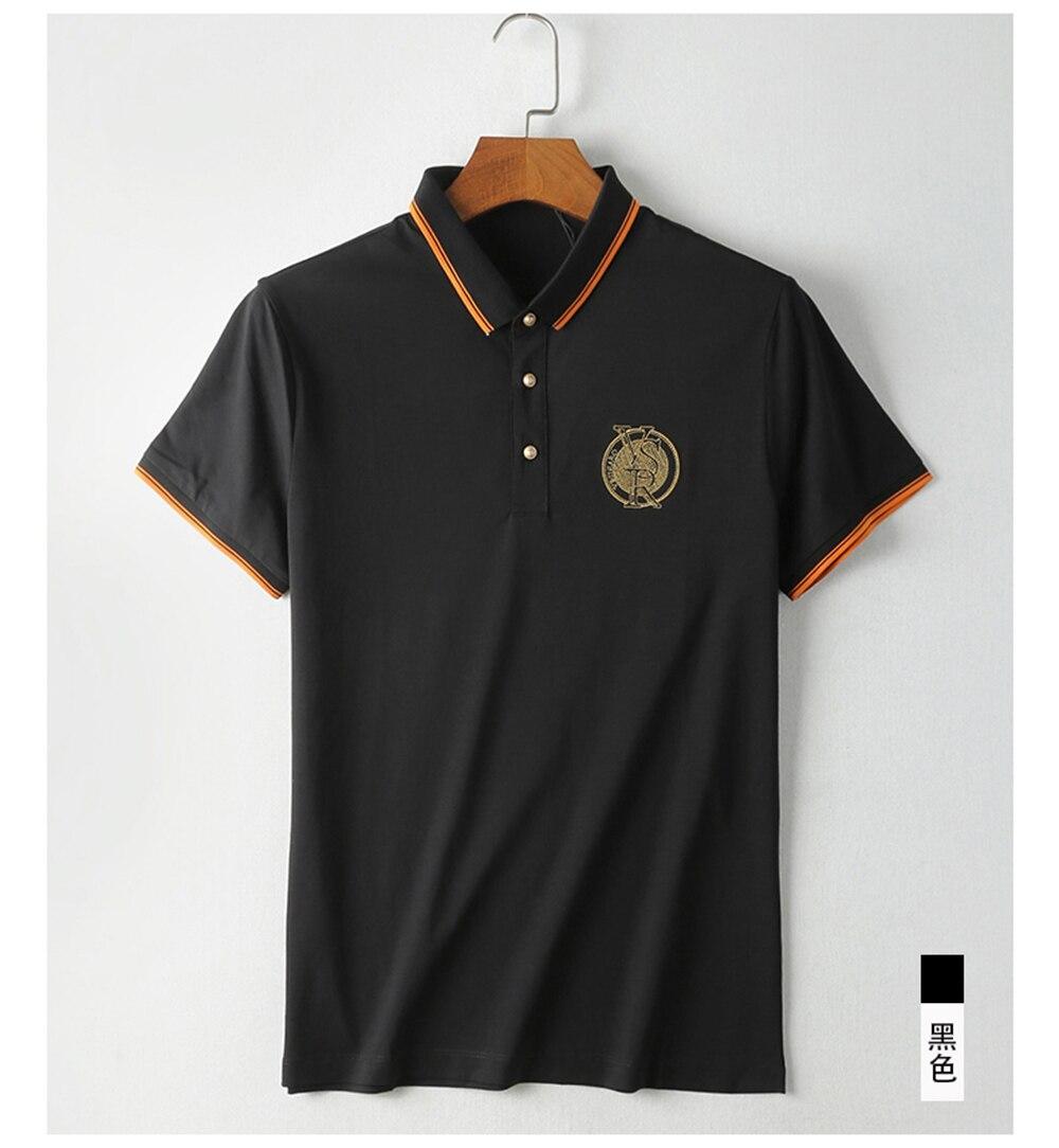 2018 New Arrival Brand Men\'s Summer Business Shirt Short Sleeves Turn-down Collar Polo Shirt Smart Casual pol Shirt Men Shirts (8)