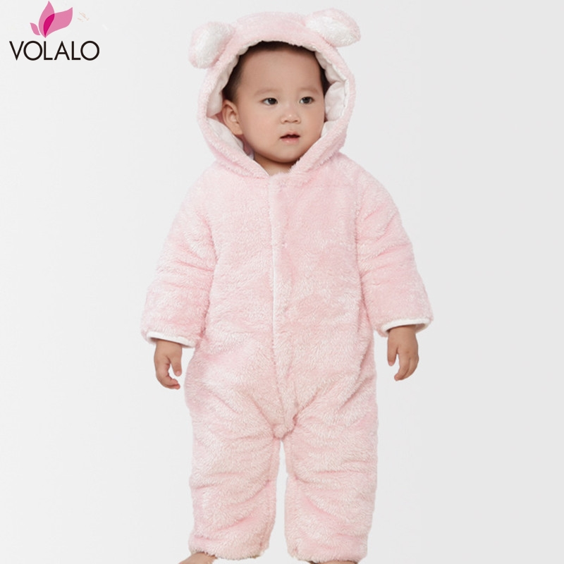 2016 New Bear kids baby rompers warm jumpsuit winter clothing thicken baby girl coverall Brand bebe baby Girls<br><br>Aliexpress