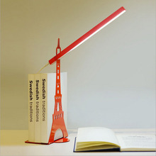 Touch Dimmer USB Led Desk Lamp And Bookshelf Table Lamps Modern Eiffel Tower Childr Study Reading For Living Room Bedroom Lights