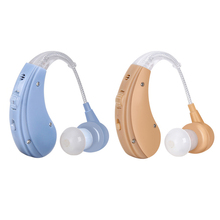Cofoe Brand BTE Hearing Aid Adjustable Sound Amplifier Ear Care Device For Hearing Drop Elderly 2 color Behind Mini Hearing Aids