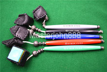 5 Colors Snooker Billiard Pool Cue Pliable Leather Pocket Cue Chalk Holder Pencil With Handle Free Shipping Wholesales(China)