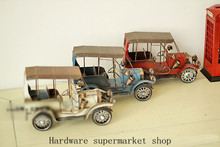 Handmade Vintage wrought iron tin ornaments creative Home Furnishing vintage car decoration
