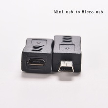 1PC 4 Type Straight / L Shape Black Micro / Mini USB Female to Mini / Micro USB Male Adapter Charger Connector Converter Adaptor