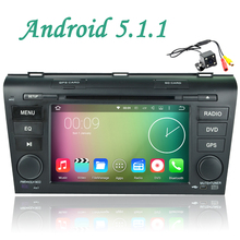 Free camera wifi 3G Android 5.1 Car multimedia DVD Player GPS map RDS Radio OBD TV USB Bluetooth For Mazda 3 2003 2004 2005-2009