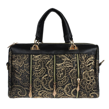 Luxury Women Messenger Bag Tote Shoulder Bag Lace Zipper Handbag Gold