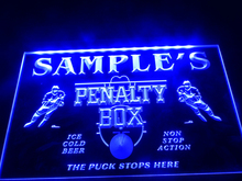 DZ050- Name Personalized Custom Hockey Penatly Box Bar Beer Neon Sign hang sign home decor crafts(China)