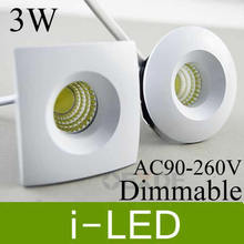 30%off cob 3w 5W led downlights fixture led down light dimmable display light exhibition lamp 110-240v warm cold white UL  CE