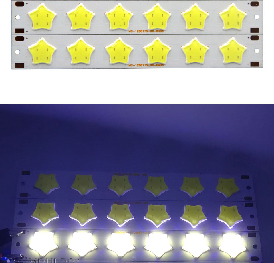 Special Shape COB LED Light Strip DC 12V 5W 6W Cold White LED Bulb with Star Grid Arrow Shape DIY Work Home Car Decor Lighting (3)