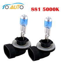 Hot sale !!! 2pcs h27 881 car led lamp bulb Super Bright White Fog halogen lens 12v  27W  led headlight car styling D005