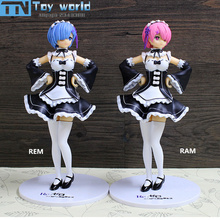 Re Life in a different world from zero Rem Ram Action-figure 21cm Japan Anime sexy Rem Ram PVC model figures toy collection gift