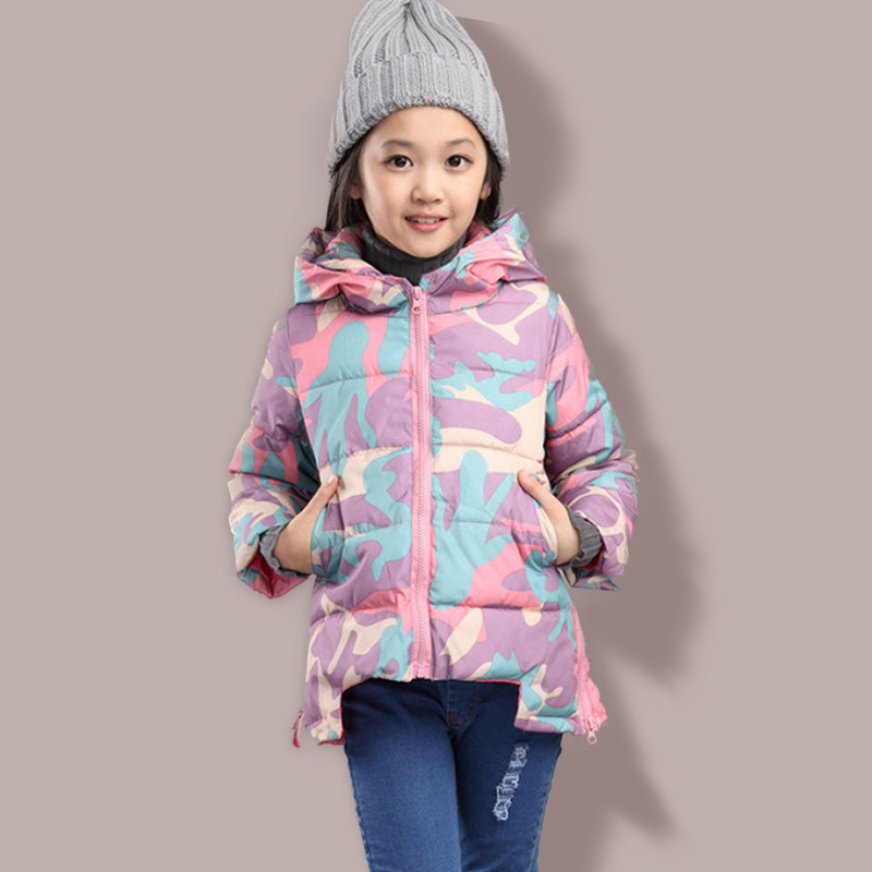 Children Cotton Overalls Light Girl Camouflage Cotton Down Jacket For 5-10 YearОдежда и ак�е��уары<br><br><br>Aliexpress