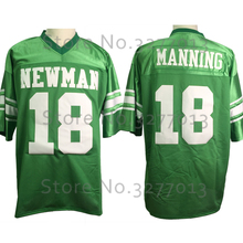2018 Cheap America Football Jerseys #18 Eli Manning Jersey Isidore Newman HS Vintage Throwback Jersey Retro Stitched Mens Shirts(China)