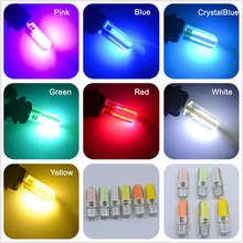 T10 194 2825 WY5W W5W COB LED Silica gel Waterproof Wedge Light Car marker light reading dome Lamp Auto parking bulbs DC 12V