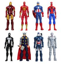 30cm Anime Super hero Iron Man Captain America Spiderman Green Goblin Venom Ultron PVC Action Figure Can Moved Model Toys(China)
