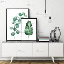 Modern Nordic Watercolor succulent Green plant Canvas Art Print Painting Poster, Cactus set Wall Pictures for Home Decor