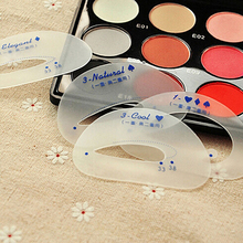 New 6 Pcs Eyebrow Stencil Eyeshadow Model Card Auxiliary Draw Eye Shadow Makeup Tool High Recommend