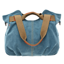 2017 Vintage Canvas Bags Women Shoulder Bags Brands Designer High Quality Ladies Shopping And Traveling Casual Big Canvas Bag