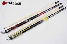 Free shipping billiard punch Jump and Break cues 3/4 split american cues black 16 fancy nine ball american rod 3pcs cue stick