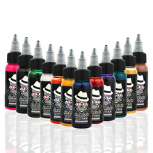 OPHIR 12 Colors Acrylic Paints 30ML/Bottle Airbrush Inks Body Art Paint Colors for Temporary Tattoo Inks Pigment _TA053(1-12)(China)