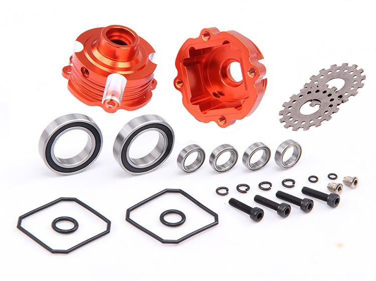 Baja parts,Differential shell kit Alloy metal Diff Gear Box 85119<br><br>Aliexpress