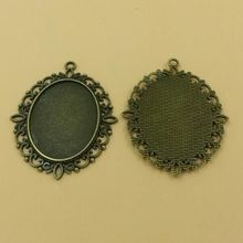 Bronze Cameo base settings Fittings 40*30mm Glass Cabochons Diy Pendant Base  10PCS/bag (TO21) 2015 New Free Shipping