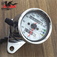 chrome motorcycle LED Backlight Motorcycle Tachometer Dirt Bike Scooter Tacho Gauges for Honda Yamaha Kawasaki suzuki universal(China)