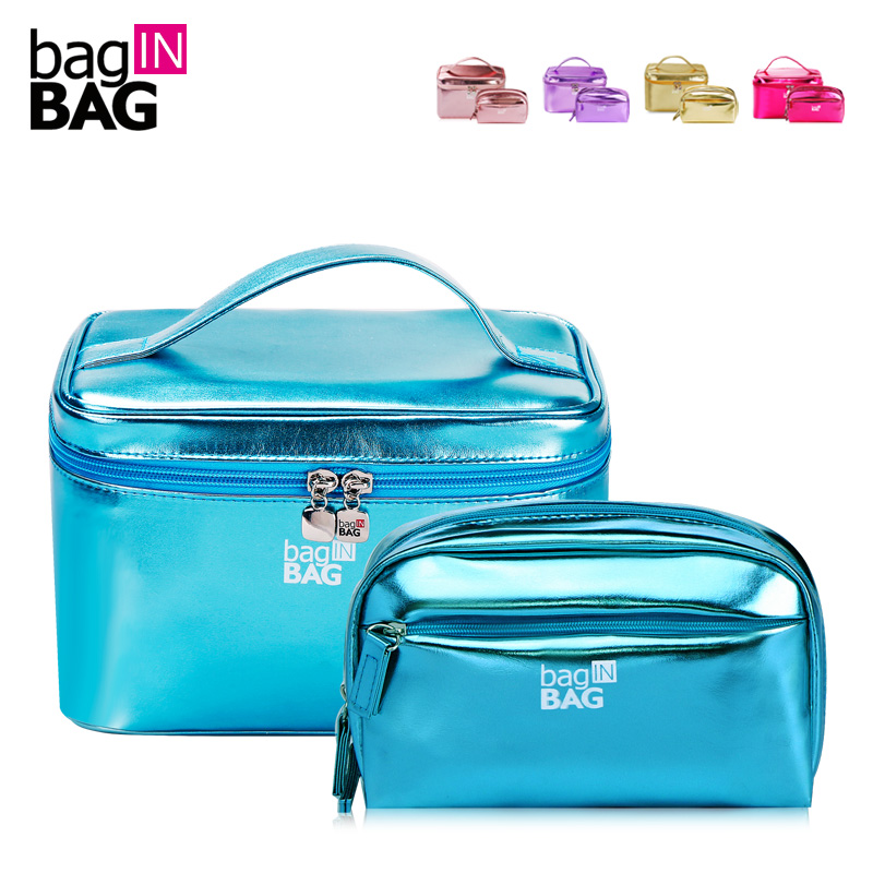bagINBAG Vivid Women Cosmetic Bag Set Makeup Bags Portable Make Up Organizer Bag Twin Set Large Capacity Travel Cosmetic Cases <br>