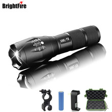Promotion 3800LM CREE XML-T6 LED Flashlight High quality 5 Modes Zoomable lanterna Torch Lighting use 3x AAA or 18650 Battery(China)