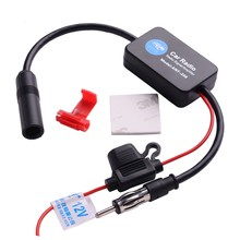 12V Black Car Radio Signal Amplifier ANT-208 Aerials Signal Booster(China)
