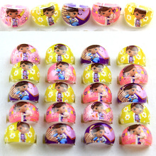 New 20Pcs Wholesale Mixed Lots lovely Cartoon Negro Doctors Children/Kids Resin Lucite Rings Free Shipping Jewelry shop(China)