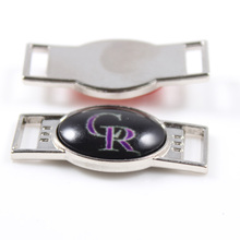 Colorado Rockies MLB Baseball Team Logo Oval Shoelace Charms For Sport Shoes And Paracord Bracelets Jewelry Decoration 6pcs