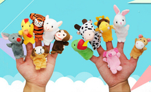 12pcs/set Hand puppet for sale kid Children toy finger puppet marionette Zodiac kawai animal doll set educational gift Brinquedo(China)