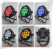 16xlot Best price led par64 light waterproof flat par12x15w rgbwa led wash outdoor led par dmx