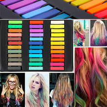 36 Colors Hair Dye Easy Temporary Colors Non-toxic Hair Chalk Soft Pastels Kit Hair Color Crayons for Hair(China)