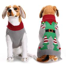1PC Christmas Clothes For Dogs Clown Pattern Sweater For Dogs Warm Clothes Pet Products Dog Pullover New Year Decoration 2017 S3(China)