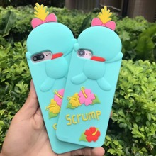 For iphone 7 7 Plus Case 3D Cartoon Animal lying Cute Minion Stitch Scrump Case For iphone 6 6s 6splus Soft Silicone Phone Cover