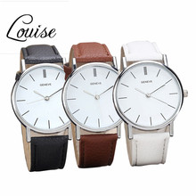 Louise 2016 Hot Sale Top Brand Watch New Womens Leather Band Retro Design Analog Alloy Quartz Wrist Watch Freeshipping
