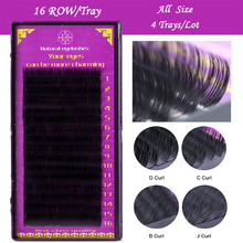 All Size 4 trays J B C D Curl natural Eyelashes extension, mink eyelashes,individual eyelash,fake false eyelashes(China)