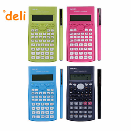 Scientific Calculator Colored calculadora Solar power electronics textbooks Stationery office material School supplies deli33230<br><br>Aliexpress